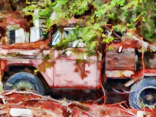 Rusty-tow-truck