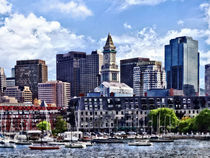 Boston MA - Skyline With Custom House Tower by Susan Savad