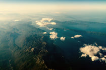 Earth Horizon Photo From 35.000 Feet Altitude by Radu Bercan