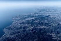 Earth Horizon Photo From 35.000 Feet Altitude by Radu Bercan