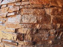 The wall of the large natural stone closeup von Vladislav Romensky