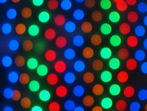 Defocused colored lights fill the entire frame by Vladislav Romensky