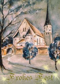 'Weihnachtskarte - Simbach-Kirchberg' von Chris Berger