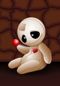 Voodoo Doll Cartoon in Love   von bluedarkart-lem