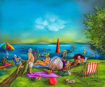 Badetag am See von Annelie Dachsel-Widmann