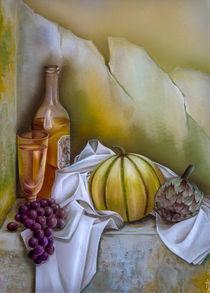Stillleben mit Melone by Annelie Dachsel-Widmann