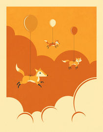 FLOCK OF FOXES von Jazzberry  Blue