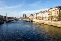 Paris France Ile de la Cite with Notre-Dame in Background by Perry  van Munster