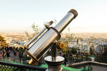 Sacre Coeur Telescope Paris Skyline by Perry  van Munster