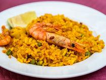Traditional Valencian Paella With Seafood von Radu Bercan