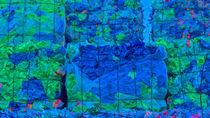 Wertstoff im Recycling-Hof, Plastik blau by Hartmut Binder