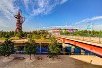 West Ham FC Stadium And The Arcelormittal Orbit  by David Pyatt