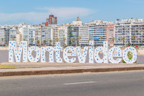 Montevideo Letters at Pocitos Beach by Daniel Ferreira Leites Ciccarino
