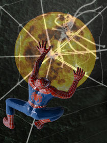 Spiderman on the way to the moon von Chris Berger