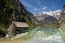 Boathouse in Lake Obersee by John Stuij