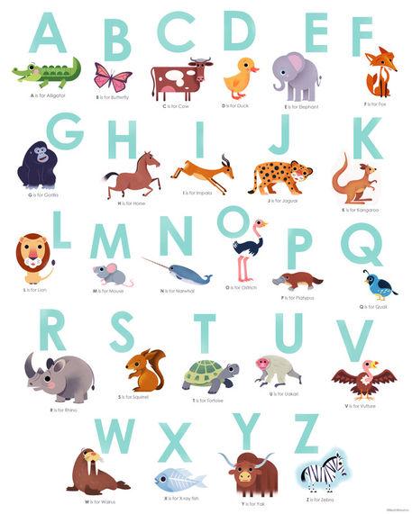 Alphabet-16x20