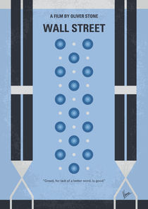 No683 My Wall street minimal movie poster von chungkong