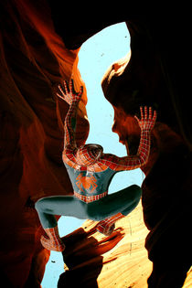 Spiderman im Antelope Canyon von Chris Berger
