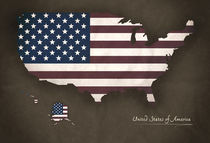 USA Modern Map Artwork Design von Ingo Menhard