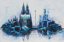 Köln in blau by Renate Berghaus