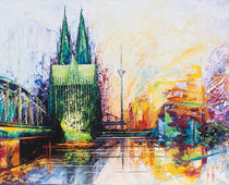 Kölner Dom Skyline by Renate Berghaus