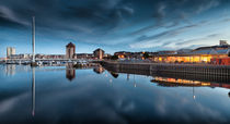 River Tawe and Swansea Marina by Leighton Collins