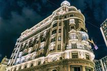 Bank Of Valencia At Night by Radu Bercan