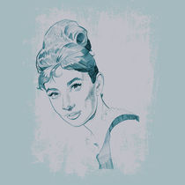 Audrey Hepburn Drawing by Andrew Herman