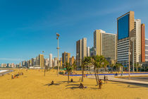 Beach and Buildings of Fortaleza Brazil by Daniel Ferreira Leites Ciccarino