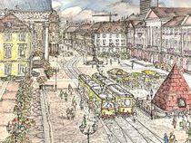 Karlsruhe (Baden) Marktplatz von Christian Woschek