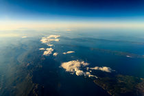 Earth Islands And Mediterranean Sea At 10.000m Altitude Above Ground by Radu Bercan