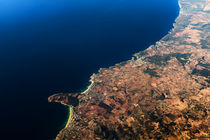 Palma de Mallorca And Balearic Sea At 10.000m Altitude Above Ground by Radu Bercan