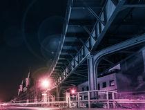 Berlin, Kreuzberg at night - Oberbaumbrücke by oh aniki