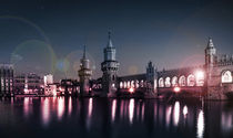Berlin at night - Oberbaum bridge by oh aniki