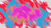 pink blue orange and red painting abstract by timla