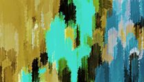 blue black and green painting texture abstract background by timla