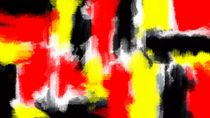 red yellow and black painting texture with white background von timla