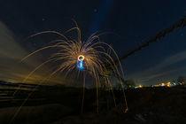 Licht auf dem Kran – crane crackling von Manuel Paul