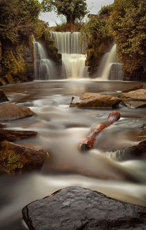 Waterfalls at Penllergare woods by Leighton Collins