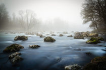 Isar im Nebel von Michael Schubert