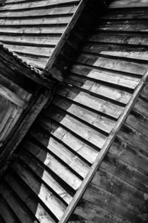 Wooden Shed Abstract Monochrome Poster Art Print von John Williams
