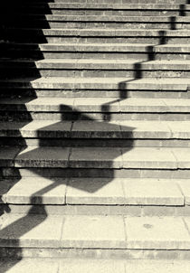 Concrete Steps Abstract Monochrome Poster Print von John Williams