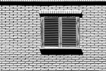 Simple House Window On Brick Wall von Radu Bercan