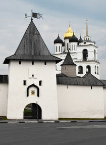 View of Pskov's kremlin and church of Holy Trinity by Sergey Tsvetkov