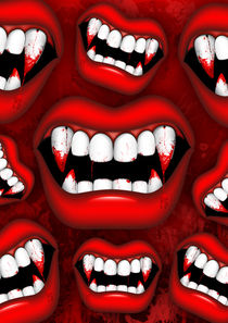 Vampire Red Bloody Mouth von bluedarkart-lem