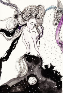Girl in the Moon von Helea-Andreea Pusta