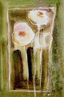 'weißer Mohn in Vase - abstrakt' von Chris Berger