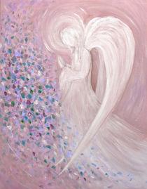 Engelmalerei - Engel pastel pink von Chris Berger