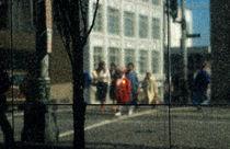 Crosswalk Reflection by Jim Corwin