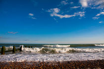 Pretty British beach in the South of England by Jessy Libik